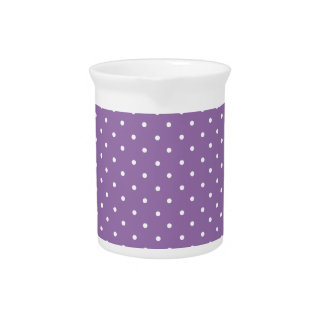 Bellflower-And-White-Polka-Dots Beverage Pitcher