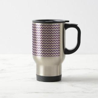 Bellflower-Blue-And-White Chevron Coffee Mugs