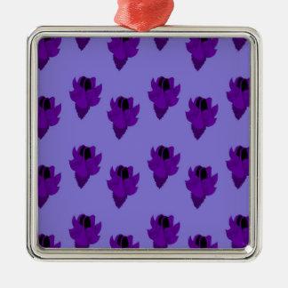 Bellflower purple christmas ornament
