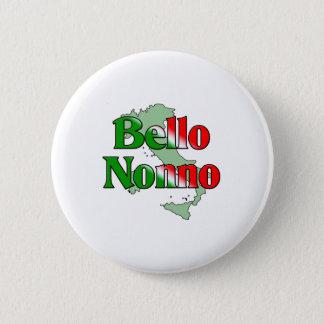 Bello Nonno (Handsome Italian Grandfather) 6 Cm Round Badge
