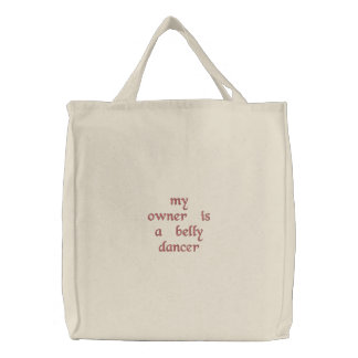 belly dancer tote bag