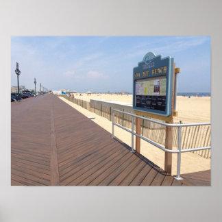 Belmar Fifth Avenue Beach Jersey Shore Poster