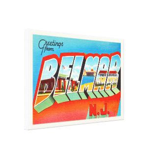 Belmar New Jersey NJ Old Vintage Travel Postcard- Canvas Print