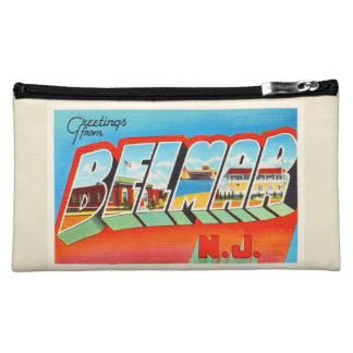 Belmar New Jersey NJ Old Vintage Travel Postcard- Cosmetic Bag