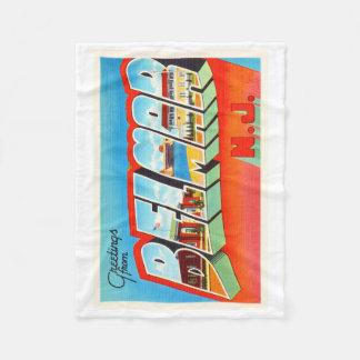 Belmar New Jersey NJ Old Vintage Travel Postcard- Fleece Blanket