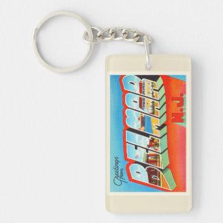 Belmar New Jersey NJ Old Vintage Travel Postcard- Key Ring