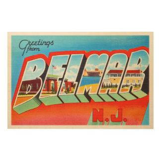 Belmar New Jersey NJ Old Vintage Travel Postcard- Wood Print