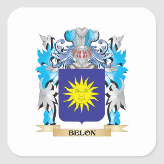 Belon Coat of Arms Square Sticker
