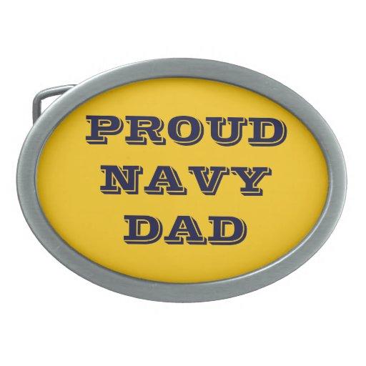 Belt Buckle Proud Navy Dad