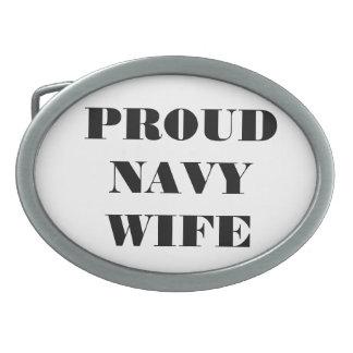 Belt Buckle Proud Navy Wife