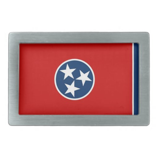 Belt Buckle with Flag of Tennessee State