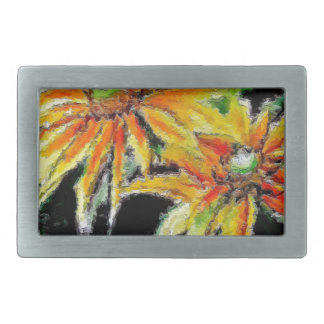 Belt Buckle with Sunflowers