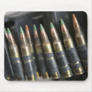 Belted bullets for an M-249 squad automatic wea Mouse Pad