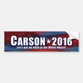 Ben Carson - Adult for President Bumper Sticker