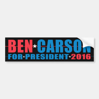 Ben Carson - for President 2016 Bumper Sticker