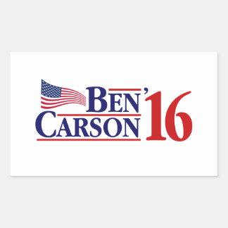 Ben Carson For President Rectangular Sticker