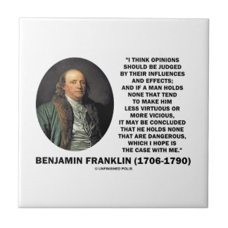 Ben Franklin Opinions Judged Influences Effects Tile