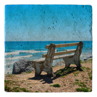 Bench Chair View of the Beach Trivet