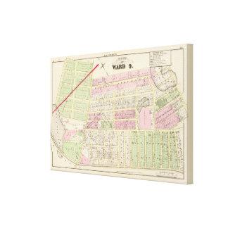 Benedict Pond Church of the Assump Atlas Map Canvas Print