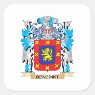 Benedikt Coat of Arms Square Stickers
