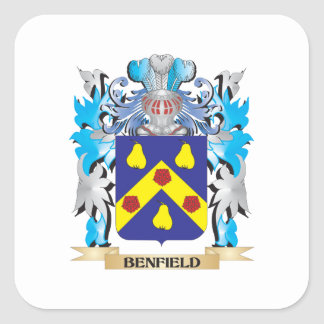 Benfield Coat of Arms Square Sticker