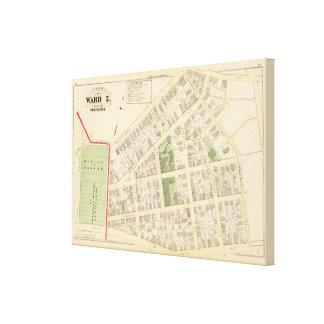 Benificent Church Cemetery and Elba Mills Atlas Canvas Print