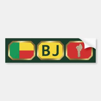 Benin Flag Map Code Bumper Sticker
