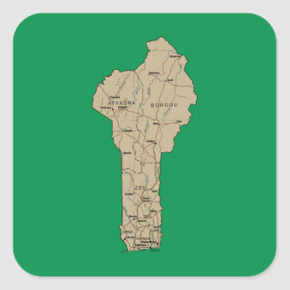Benin Map Sticker