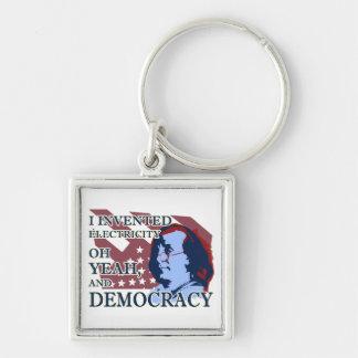 Benjamin Franklin Electricity & Democracy Keychain