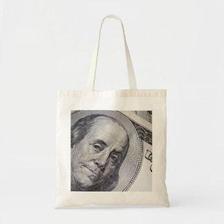 Benjamin Franklin Face Tote Bag