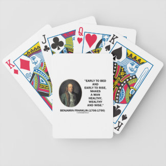 Benjamin Franklin Healthy Wealthy Wise Quote Deck Of Cards