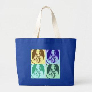 Benjamin Franklin Large Tote Bag