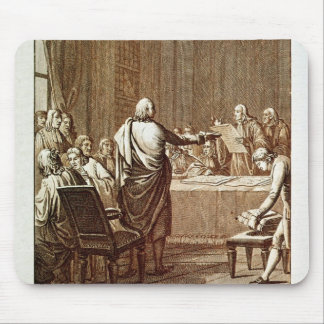 Benjamin Franklin Presenting his Opposition Mouse Pad