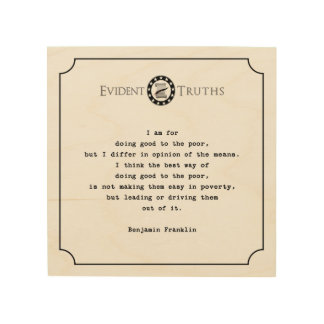 benjamin franklin quote rustic wall plaque 2 wood prints