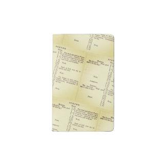 Benjamin Franklin's Schedule Pocket Moleskine Notebook