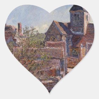 Bennecourt by Claude Monet Heart Sticker
