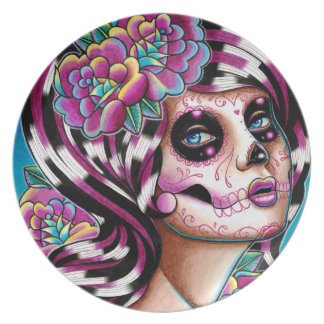 Benumbed Day of the Dead Girl Plate