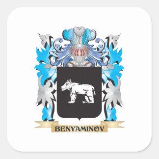 Benyaminov Coat of Arms Square Stickers