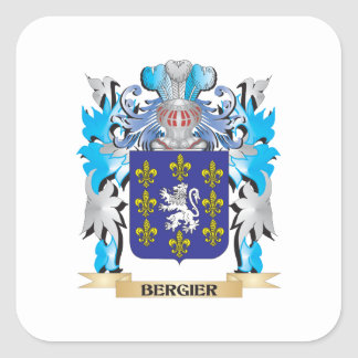Bergier Coat of Arms Square Sticker