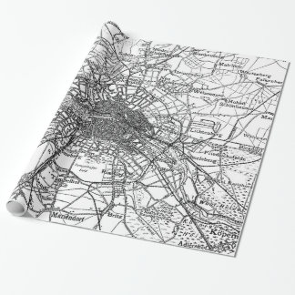 Berlin and Surrounding Areas Map(1911) Wrapping Paper