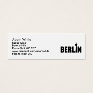 165 berlin business cards and berlin business card templates berlin germany mini business card reheart Gallery