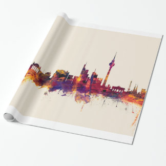 Berlin Germany Skyline Wrapping Paper