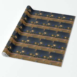 Berlin night landscape wrapping paper