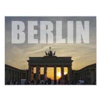 BERLIN, Sunset RK the Brandenburg gate Photo