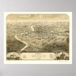 Berlin, WI Panoramic Map - 1867 Print