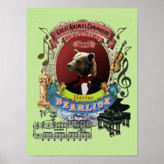 Berlioz Spoof Parody Bearlioz Bear Animal Composer Poster