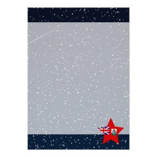Bermuda Flag Star In Space 13 Cm X 18 Cm Invitation Card