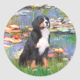 Bernese - Lilies 2 Classic Round Sticker