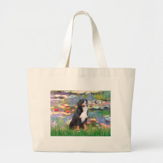 Bernese - Lilies 2 Large Tote Bag