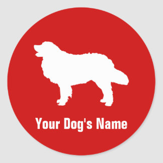 Bernese Mountain Dog バーニーズ・マウンテン・ドッグ Classic Round Sticker